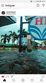 alapuzha changanacherry road high water level, kerala monsoon floods