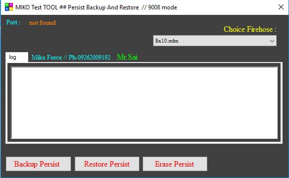 Miko Qualcomm persist_backup restore erase