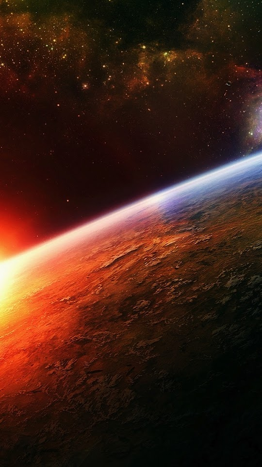 Sunrise in Space  Galaxy Note HD Wallpaper
