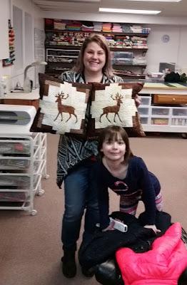 Log Cabin Deer pillows finding a new home