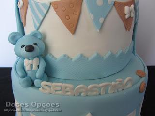sugar paste bear cake