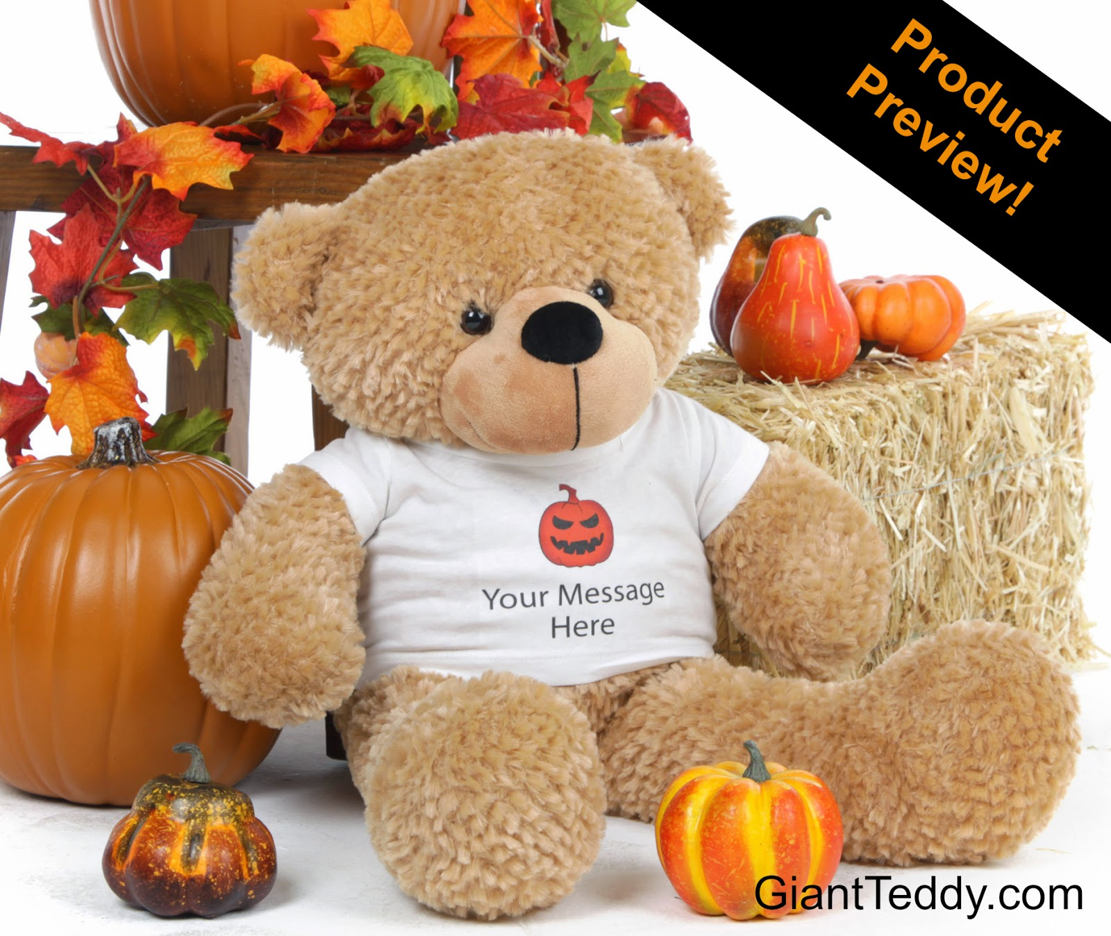 Send a Personalized Halloween Teddy Bear - 26 inch Shaggy Cuddles