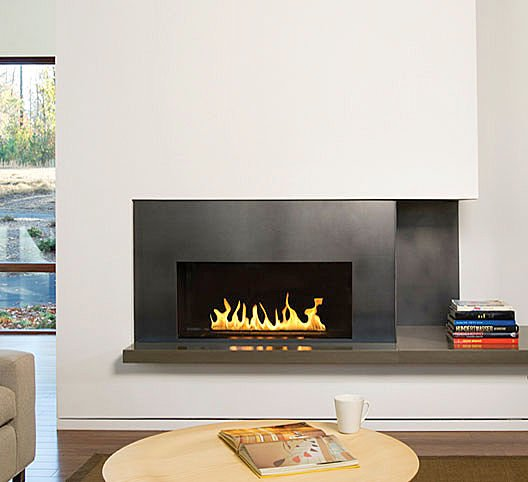 Modern Wall Fireplace Design - Architectural Home Designs
