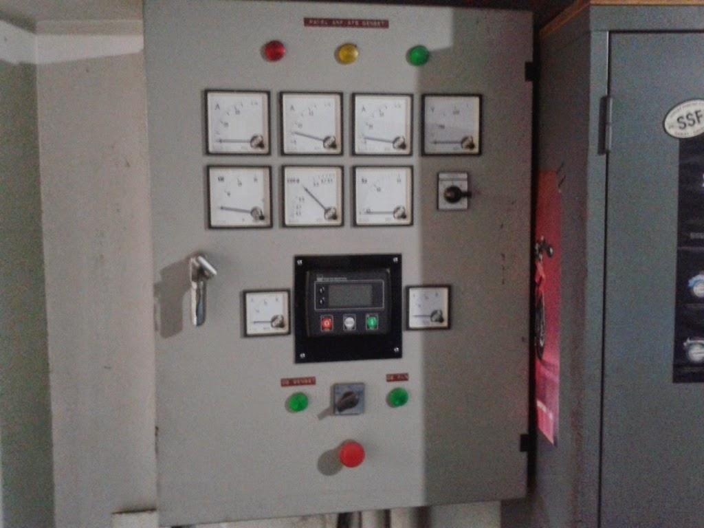 melayani service panel automatic genset