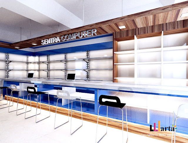 Desain Interior Toko Sentra Komputer