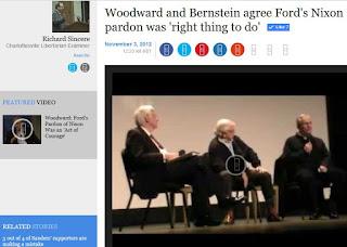 Bob Woodward Gerald Baliles Carl Bernstein Watergate Virginia Film Festival