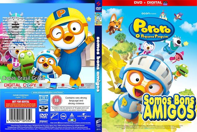Capa DVD Pororo O Pequeno Pinguim Somos Bons Amigos