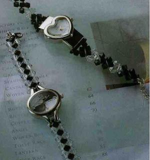 reloj, correas, manualidades, diys, esquemas, swarovski, bisutería
