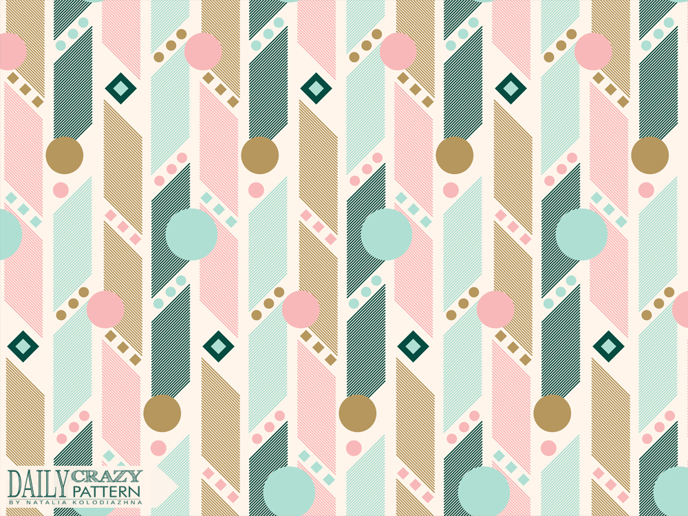 "Vintage and delicate geometric pattern for ""Daily Crazy Pattern"" project"