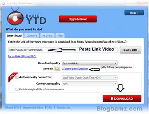 Youtube Downloader (YTD), software untuk download video youtube