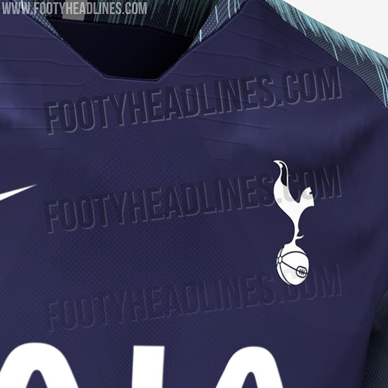 45570a660de This is thanks to the fact that the Nike Tottenham Hotspur 2018-2019 away  shirt prominently features turquoise / teal in the form of a bold graphic  on the ...