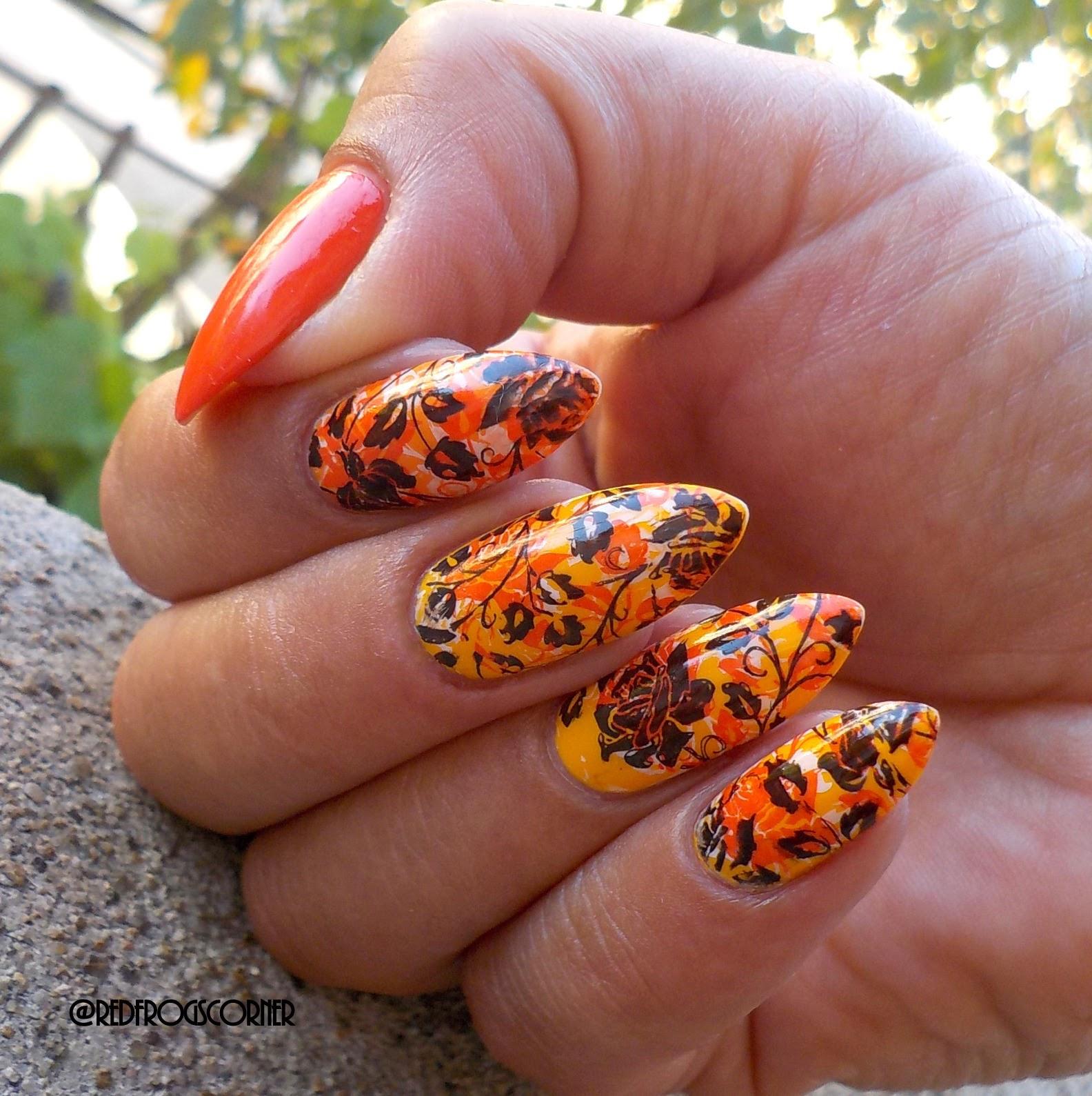 Red Polish Or Bad Polish Triple Stamping Nail Art