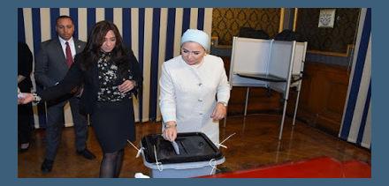 اول ايام الاستفتاء على الدستور تغطية من المحطة نيوز
