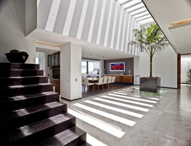Stairs in Contemporary Casa Río Hondo in Mexico City