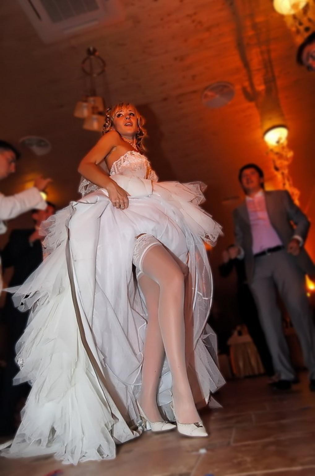 pantyhose brides Candid