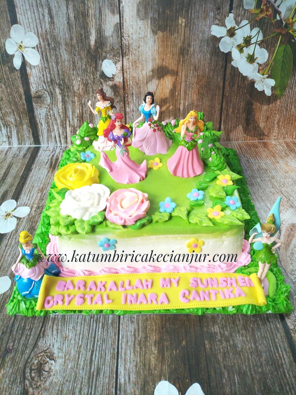 Katumbiri Custom Cake Cianjur Disney Princess Buttercream Cake