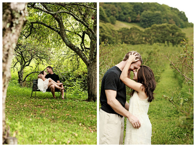 rainy orchard engagement session | photos by https://wearethehoffmans.com/