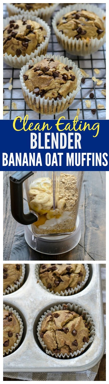 Banana Oatmeal Muffins {Blender Recipe}
