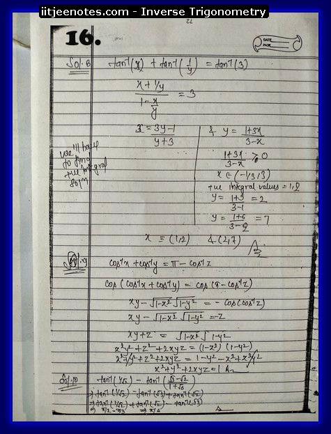 inverse trigonometry notes4