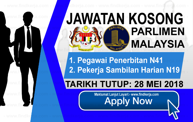 Jawatan Kerja Kosong Parlimen Malaysia logo www.findkerja.com mei 2018