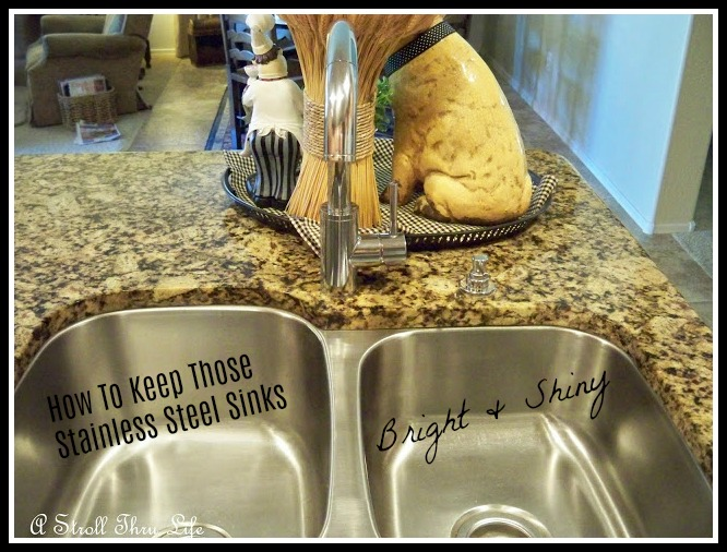 How To Keep Those Stainless Steel Sinks Bright & Shiny