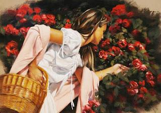 mujeres-en-jardines-con-flores-rojas