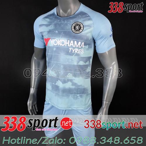 Áo Chelsea Xanh Nhạt 2018 2019 Training 2