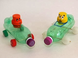 إصنعى لعبة أطفال من زجاجة مياه بلاستيك اصنع دوت نت