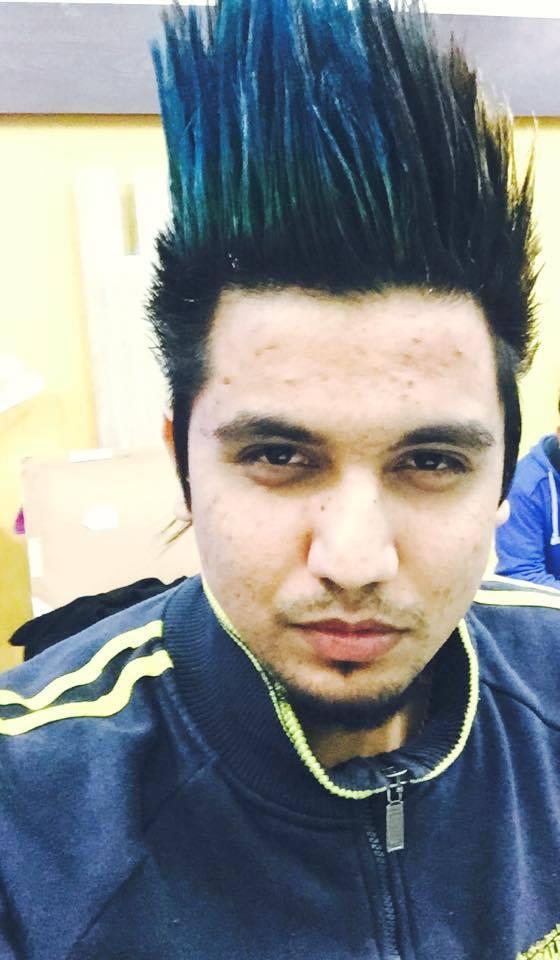 a kay punjabi singer hair style : Back >