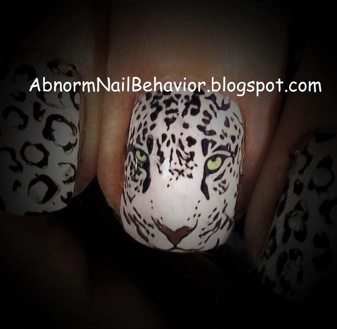 Abnorm Nail Behavior | Nail Art : Green Eyed Leopard Nails