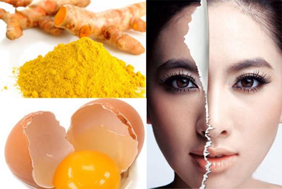 Cách chữa trị nám da mặt tại nhà từ lòng trắng trứng và bột nghệ