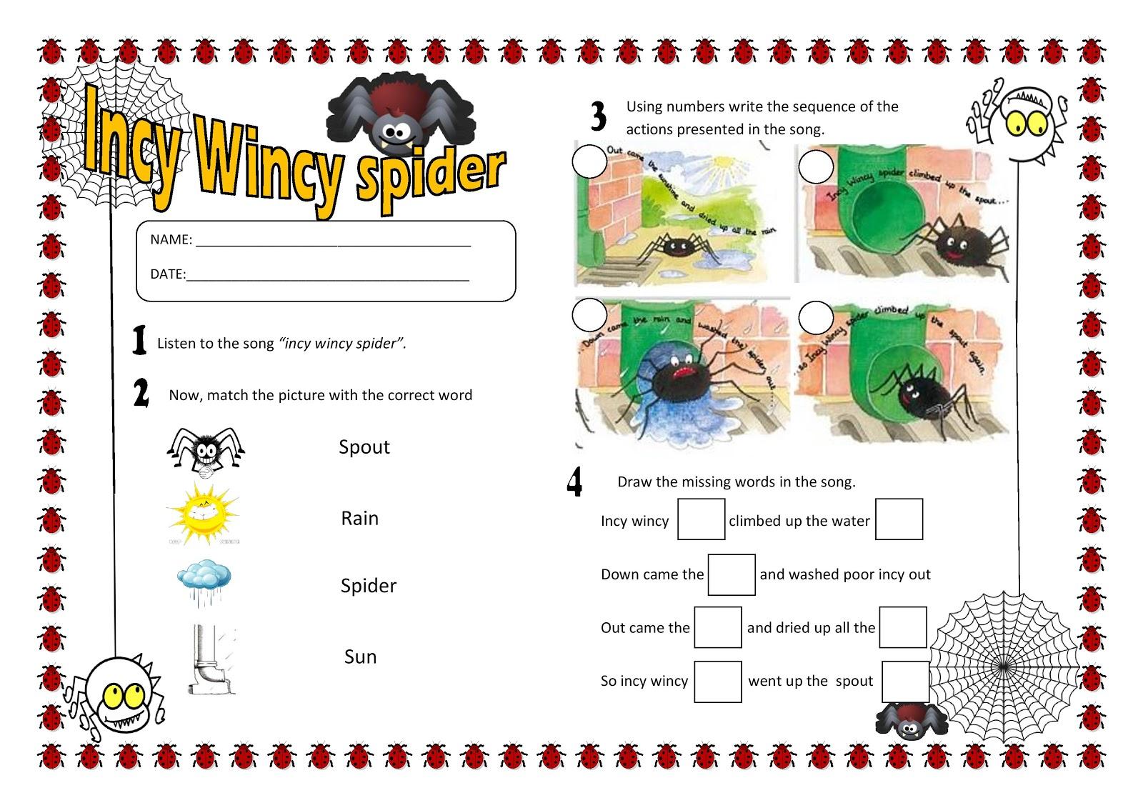 English 4 Kids Song Worksheet