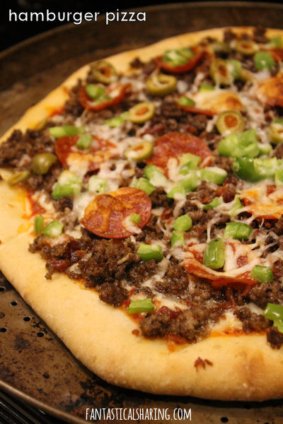 Hamburger Pizza #recipe #pizza #beef #maindish