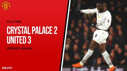Video Gol Crystal Palace vs Manchester United 2-3 Highlights