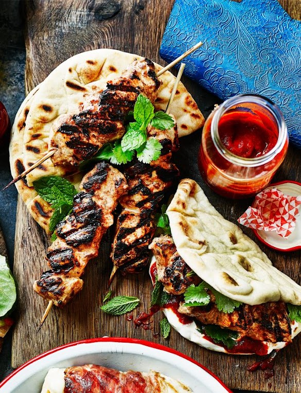 Deliciously Moroccan Chicken Flatbreads
