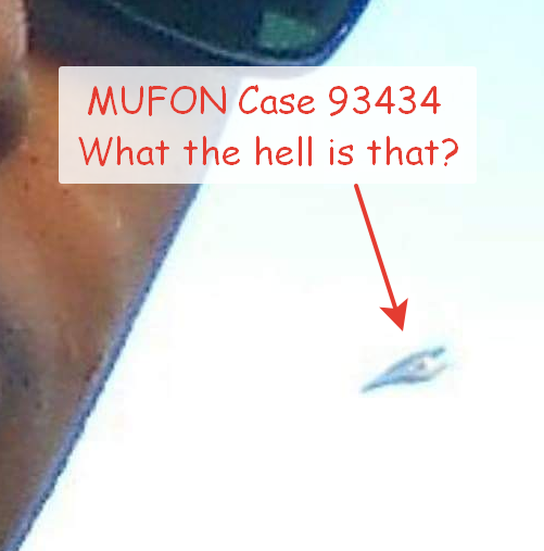 One of the best MUFON cases ever with a triangle Ufo in the image.