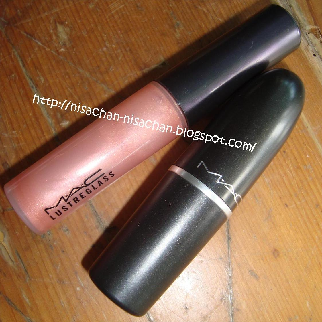 REVIEW : MAC Cremesheen in Creme Cup and MAC Lustreglass in Love Nectar