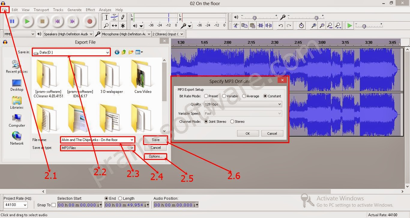 how to change tempo of mp3 music save file