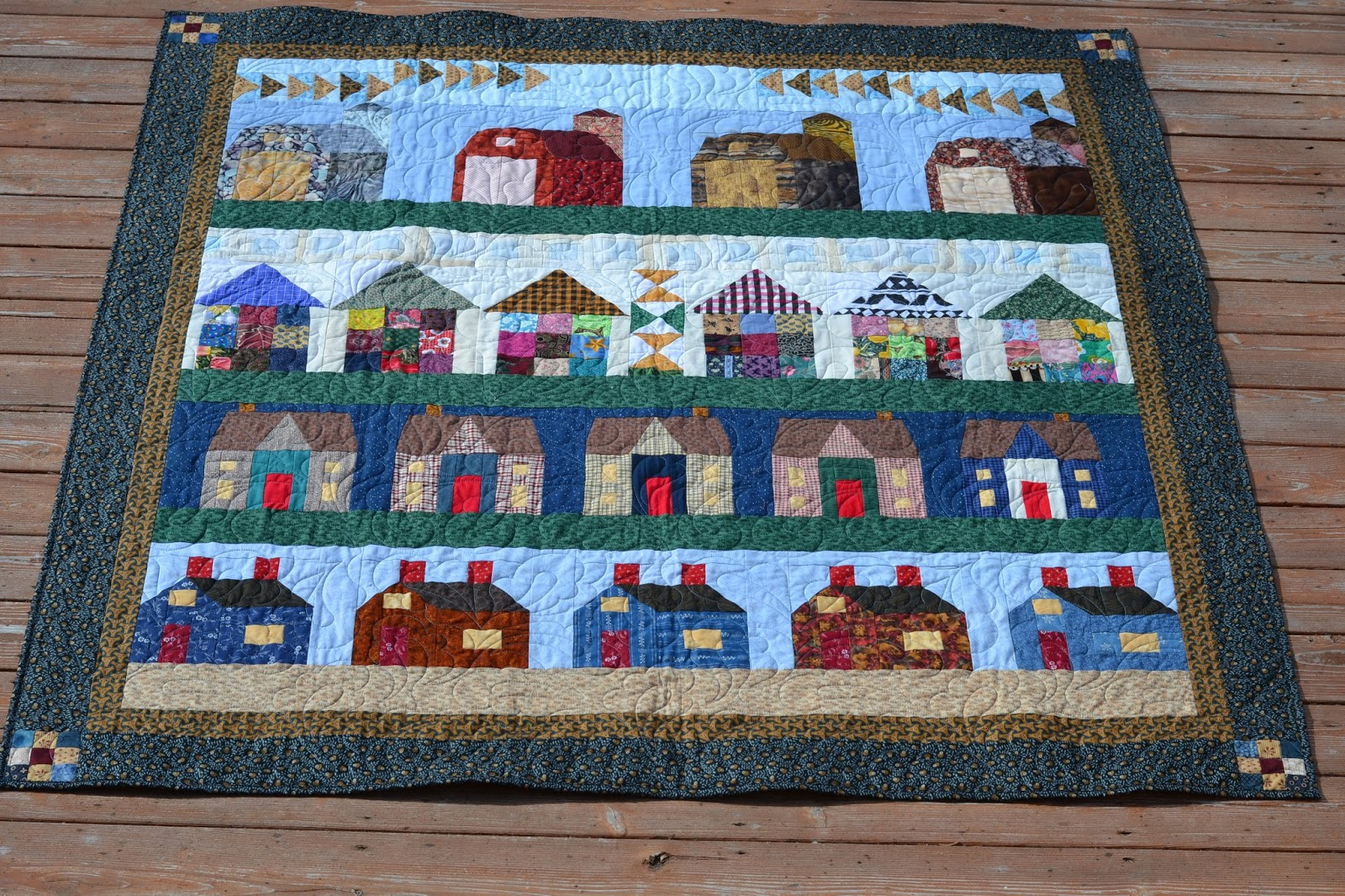 Magpie Quilts Row By Row House Quilt