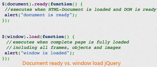 document ready vs  window load - Angular, TypeScript, Vue