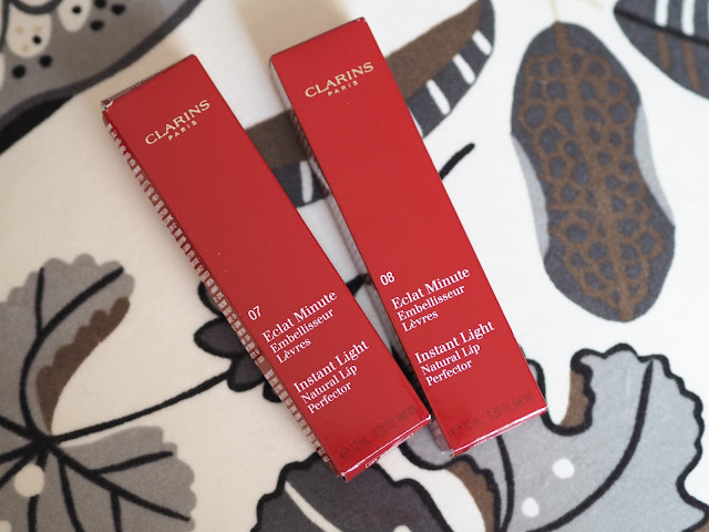 Clarins Instant Light Lip Perfectors - Toffee Shimmer & Plum Shimmer