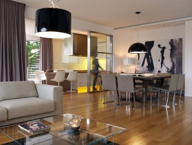 Dise os de salas y comedor juntos colores en casa for Diseno sala comedor