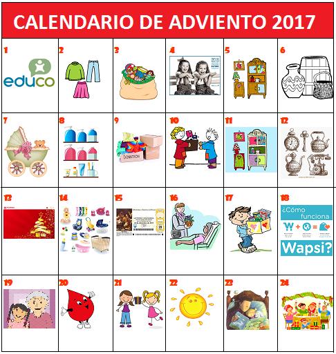 La libreta de mam calendario de adviento solidario for Calendario adviento 2017