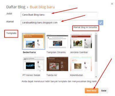 Cara Membuat Blogg dengan Mudah