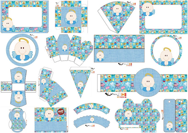 Boy Baptism or First Communion  Free Printable Kit.