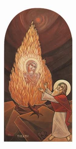 burning bush church fathers # 13