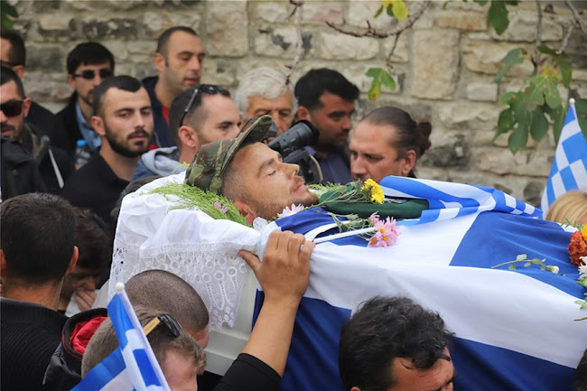 BINTEO από την η κηδεία του Κωνσταντίνου Κατσίφα - «Κλαίει» η Βόρεια Ήπειρος - Θρηνεί ο Ελληνισμός