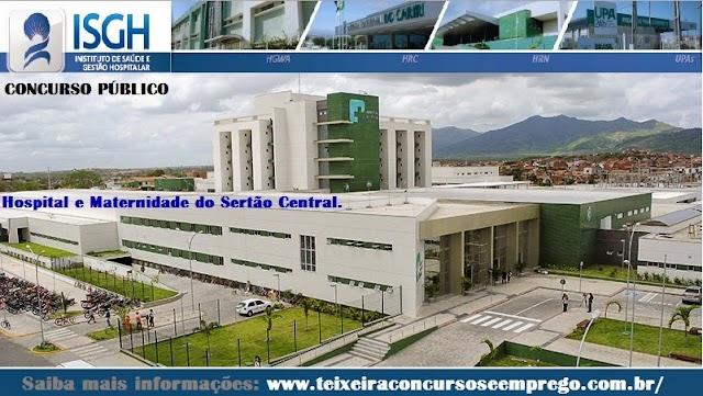 Concurso Hospital Regional do Sertão Central - Quixeramobim - ISGH-HMSC