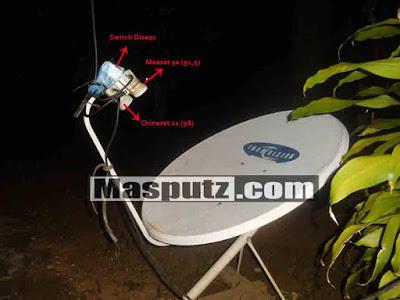 Cara Lock Satelit Chinasat 11 dan Measat 3a Dengan Satu Dish
