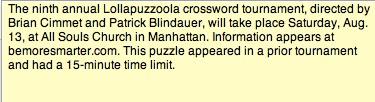 Casino cry crossword